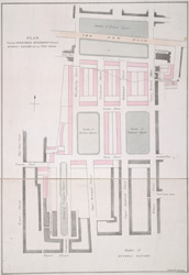 Plan shewing intended buildings between Russel Square and the New Road
